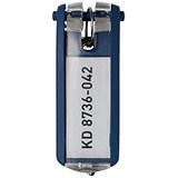 Image of Durable Key Clip D Blue Ref 1957-07 [Pack 6]