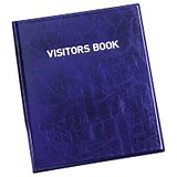 Durable Leather Look Visitors Book - 100 Badge Inserts