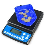Image of Brecknell Coin Counter Electronic Checking Scale for all UK Coins Ref CC-804
