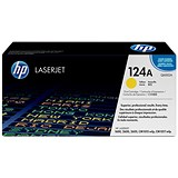 Image of HP 124A Yellow Laser Toner Cartridge