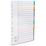 Image of Concord Punched Pocket Index / Multicolour tabs / Europunched / A-Z / Extra Wide / A4 / White
