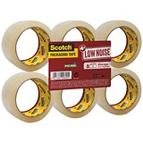 Image of Scotch Packaging Tape / Low Noise / 48mmx66m / Clear / Pack of 6
