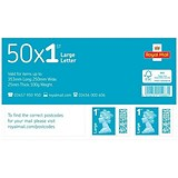 Image of Royal Mail 1st class postage stamps for large letters – 50 Per Pack