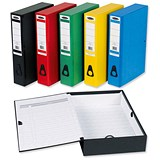 Image of Concord Classic Box File / 75mm Spine / Foolscap / Assorted Colours / Pack of 5