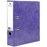 Image of Concord Contrast A4 Lever Arch Files / Laminated / Purple / Pack of 10