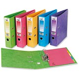 Image of Concord Contrast A4 Lever Arch Files / Laminated / Assorted / Pack of 10