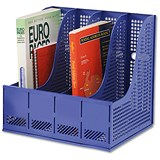 Image of Storage Rack for Lever Arch Files with 4 Sections - Blue