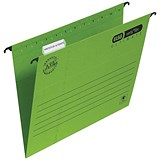 Image of Elba Verticflex Ultimate Suspension Files / V Base / 15mm Capacity / A4 / Green / Pack of 25