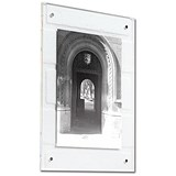 A4 Clear Acrylic Wall Picture Frame - Magnet Closure with Fixings