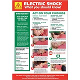 Image of Stewart Superior Electric Shock Laminated Guidance Poster W420xH595mm Ref HS104