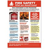 Stewart Superior Fire Safety Laminated Guidance Poster W420xH595mm