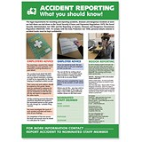 Stewart Superior Accident Reporting Laminated Support Poster W420xH595mm