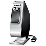Image of Dymo Plug N Play Label Machine USB Lithium-ion Battery D1 Prints 2 Lines Ref S0915390