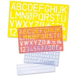 Image of Lettering Stencil Set - 5mm 10mm 20mm 30mm