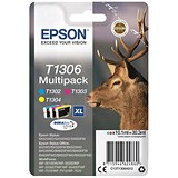 Epson T1306 XL Inkjet Cartridge Multipack - Cyan, Magenta and Yellow (3 Cartridges)