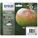 Image of Epson T1295 Inkjet Cartridge Multipack - Black, Cyan, Magenta and Yellow (4 Cartridges)