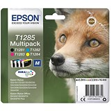 Image of Epson T1285 DURABrite Inkjet Cartridge Multipack - Black, Cyan, Magenta and Yellow (4 Cartridges)
