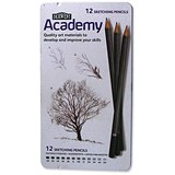 Derwent Academy Sketching Pencils / 6B-5H / Pack of 12