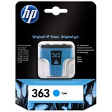Image of HP 363 Cyan Ink Cartridge