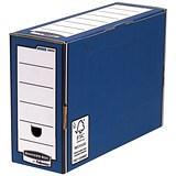 Image of Fellowes Bankers Box Premium Transfer Files / Blue & White / Pack of 10