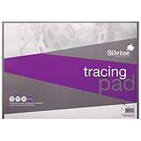 Silvine Professional Tracing Pad / A2 / 90gsm / 50 Sheets