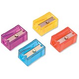 Image of Pencil Sharpener / Anti-tamper / Screw 1 Hole / Assorted Colours / Pack of 10