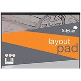 Silvine Layout Pad / A3 / Acid Free / 50gsm / 80 Sheets