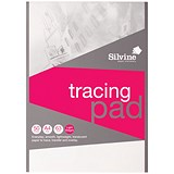 Silvine Tracing Pad / A4 / Acid Free / 50gsm / 50 Sheets