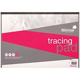 Image of Silvine Tracing Pad / A3 / Acid Free / 50gsm / 50 Sheets