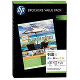 Image of HP 940XL Brochure Value Pack - Includes 3 Cartridges and 100 Sheets of A4 Paper