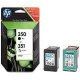 Image of HP 350/351 Black/Tri-Colour Ink Cartridges (2 Cartridges)