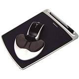 Image of Fellowes Health-V Fabrik Easy Palm Glide Mouse Mat with Palm Support / Lycra Covering / Black