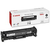 Image of Canon 718 Black Laser Toner Cartridge