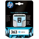 Image of HP 363 Light Cyan Ink Cartridge