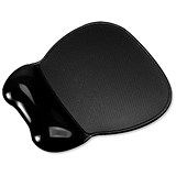 Image of Mouse Mat Pad Wrist Rest / Non-Skid / Easy Clean / Gel / Black