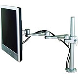 LCD Desktop Mount 2-Way Adjustable Monitor Arm / Up To 24 inch / Holds 10kg / Silver