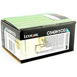 Image of Lexmark C540H1CG Cyan Laser Toner Cartridge