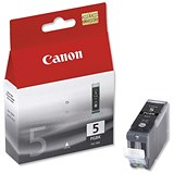 Image of Canon PGI-5BK Black Inkjet Cartridges (Twin Pack)