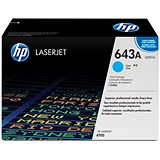 Image of HP 643A Cyan Laser Toner Cartridge