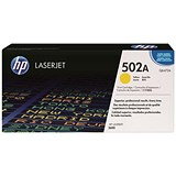 Image of HP 502A Yellow Laser Toner Cartridge