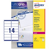 Avery Jam-free Laser Addressing Labels / 14 per Sheet / 99.1x38.1mm / White / L7163-100 / 1400 Labels