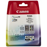 Image of Canon PG-40/CL-41 Black and Colour Inkjet Cartridges (2 Cartridges)