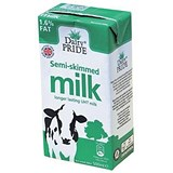 Image of Dairy Pride Semi-Skimmed Milk - 12 x 500ml Cartons
