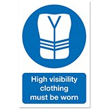 Stewart Superior High Visibility Clothing Sign Outdoor Use W200xH300mm Foamboard