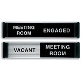 Stewart Superior Sliding Door Sign - Meeting Room Vacant/Engaged