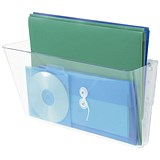 Image of Deflecto Literature Wall Pocket / Stackable / A4 / Landscape / Clear