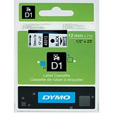 Image of Dymo D1 Tape for Electronic Labelmakers 12mmx7m Black on White Ref 45013 S0720530