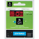 Image of Dymo D1 Tape for Electronic Labelmakers 12mmx7m Black on Red Ref 45017 S0720570