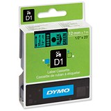 Image of Dymo D1 Tape for Electronic Labelmakers 12mmx7m Black on Green Ref 45019 S0720590