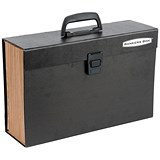 Image of Fellowes Bankers Box Handifile Expanding Organiser Briefcase - Black